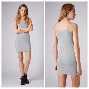 NWT TOPSHOP Strappy Cami Tunic Dress Gray